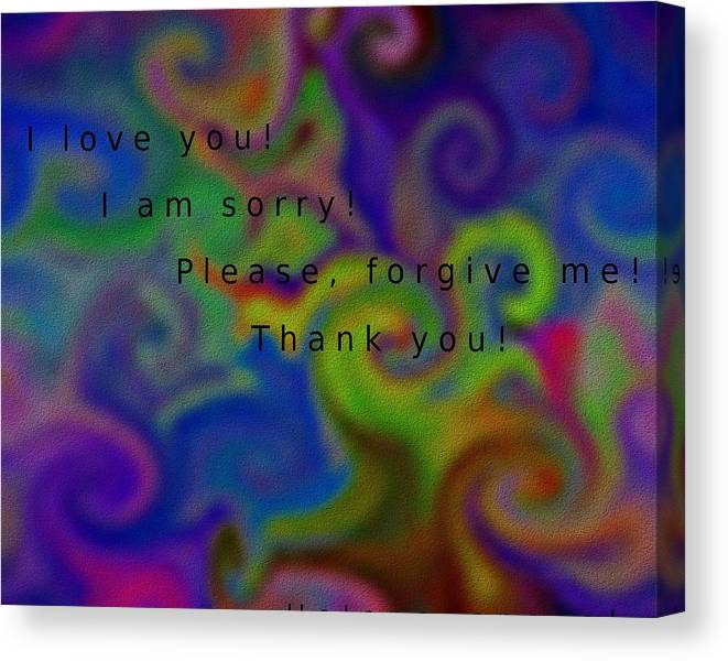Limited Time Promotion: Cleansing Prayer Stretched Canvas Print