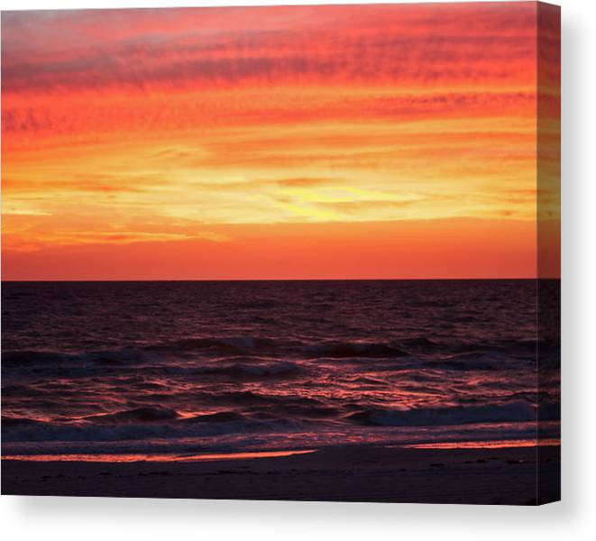 Limited Time Promotion: Last Reflections Of The Day Stretched Canvas Print