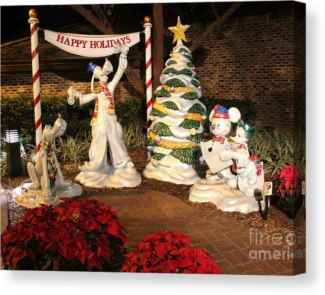 Limited Time Promotion: Happy Holidays Stretched Canvas Print