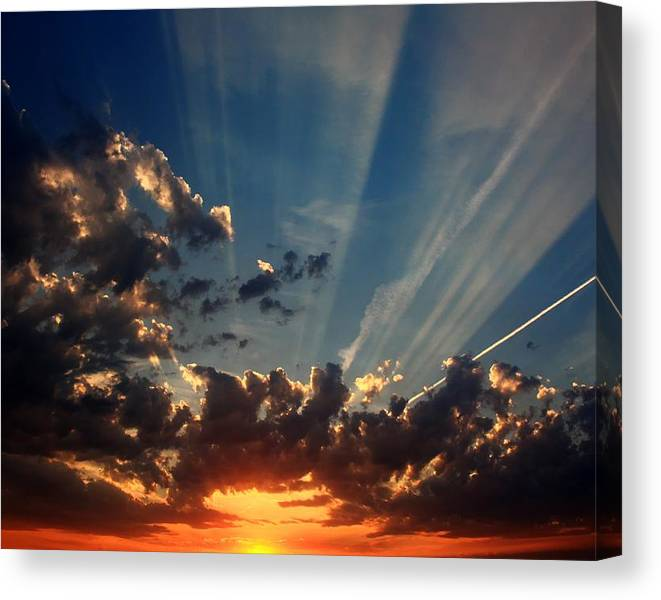 Limited Time Promotion: Days End Stretched Canvas Print by David Matthews