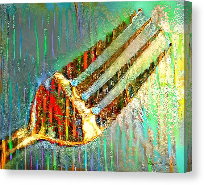 Limited Time Promotion: Fork Stretched Canvas Print by Pennie McCracken