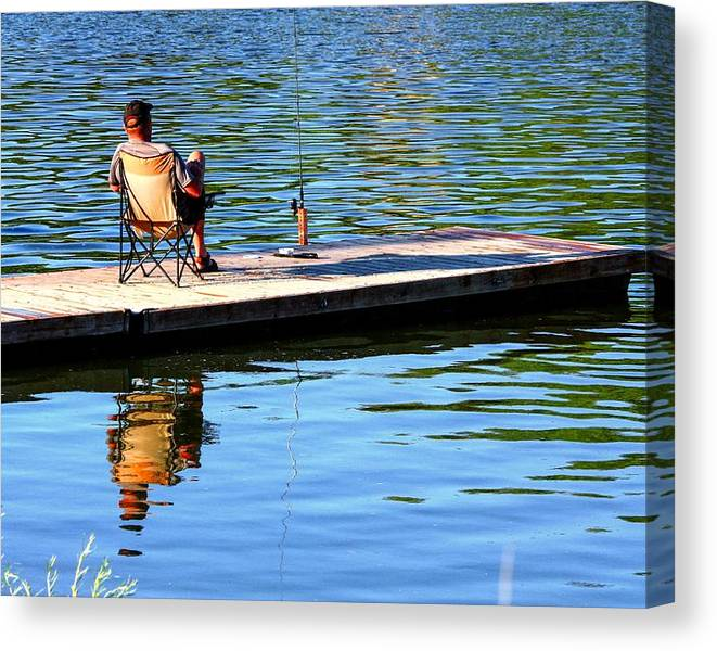 Limited Time Promotion: Gone Fishing Stretched Canvas Print by David Matthews