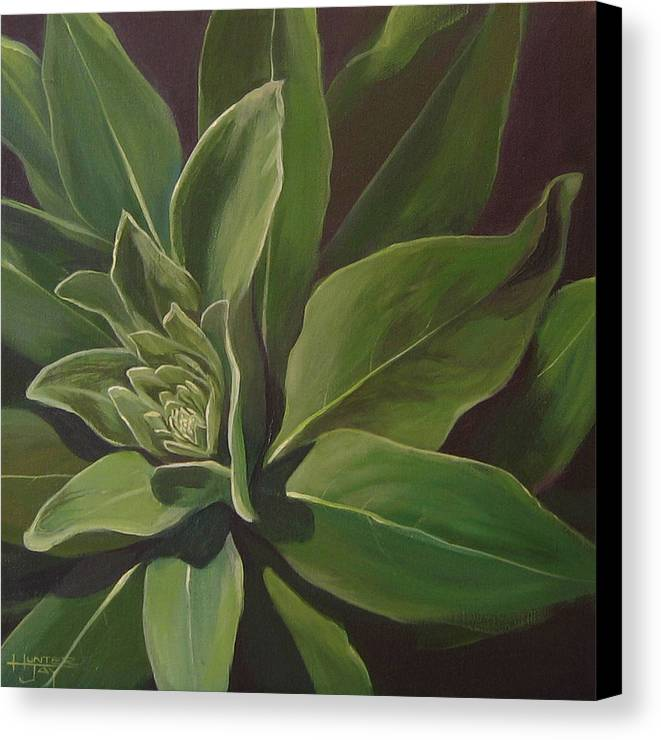 Closeup Of Mullein Plant Canvas Print featuring the painting Beautiful Stranger by Hunter Jay