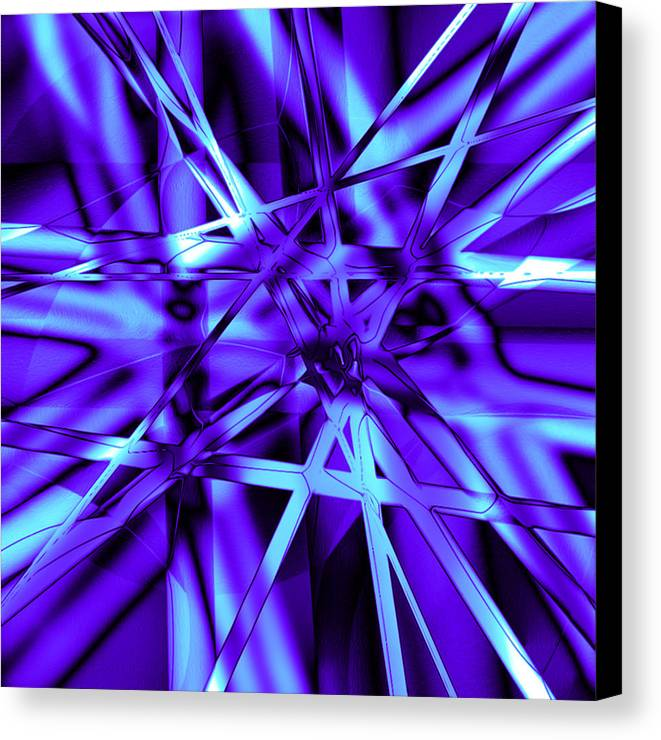 Abstract Canvas Print featuring the digital art Blue Ice by Carl Perry