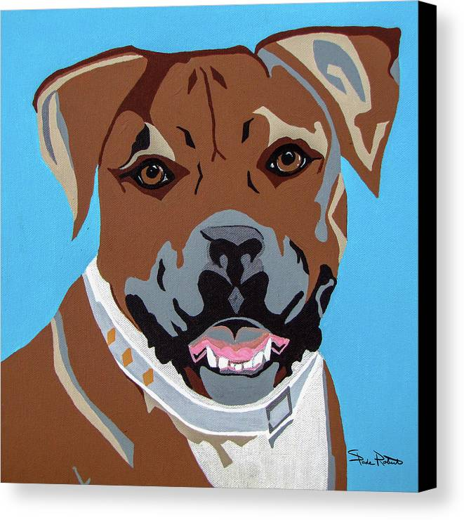 Boxer Canvas Print featuring the painting Boxer by Slade Roberts