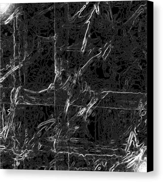 Abstract Canvas Print featuring the digital art Creepy by Carl Perry