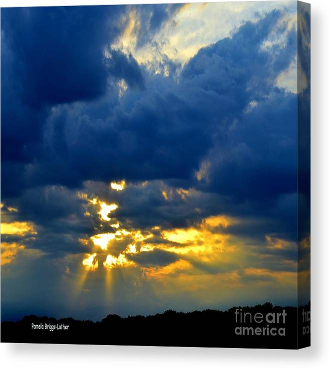 Dark Clouds Canvas Print featuring the photograph Dramatic Clouds by Luther Fine Art