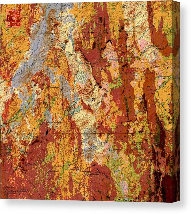 Map Canvas Print featuring the mixed media Kingdom Of Recto by Ultimo Art