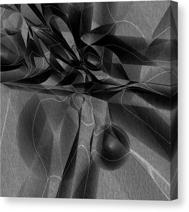 Abstract Canvas Print featuring the digital art Black Ridge by Carl Perry