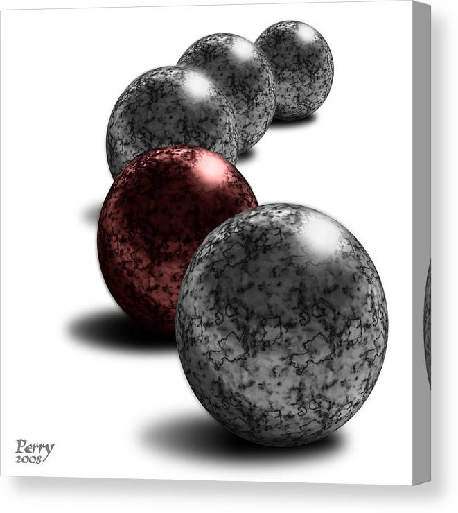 3d Canvas Print featuring the digital art Bloodstone by Carl Perry