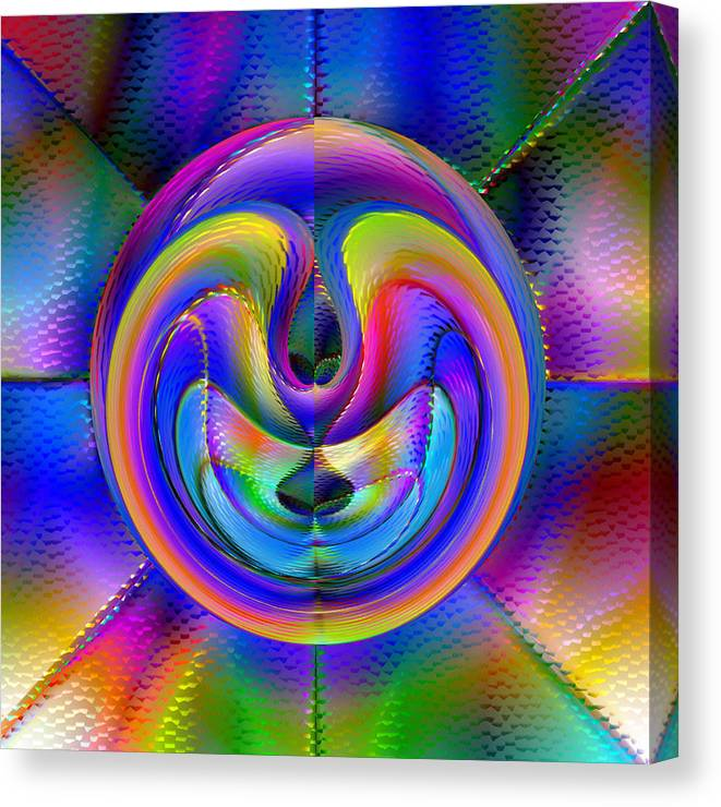 Abstract Canvas Print featuring the digital art Embrio by Carl Perry