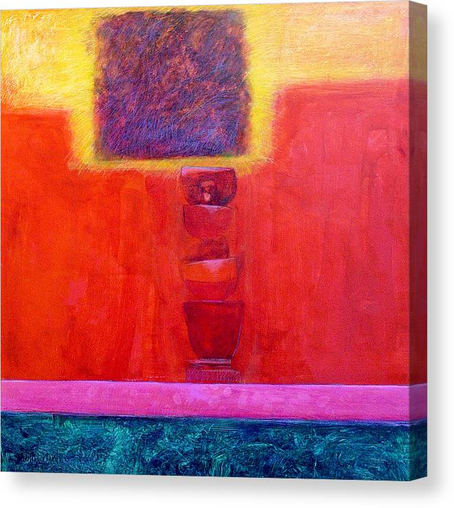 Abstract Canvas Print featuring the painting Stacked Cups by Dale Witherow