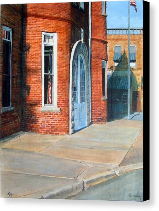 Realistic Canvas Print featuring the painting Town Hall by William Brody