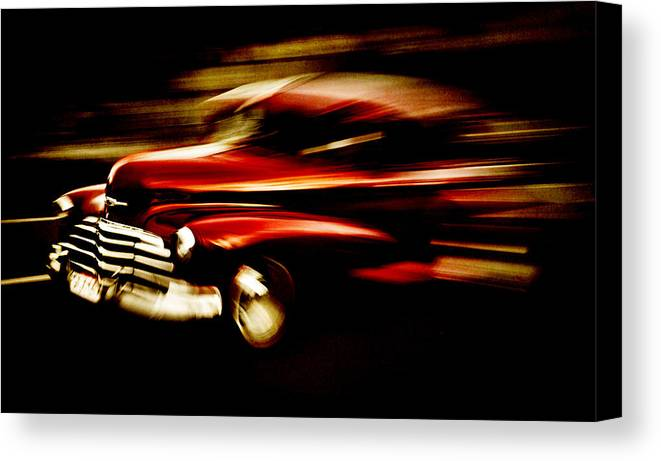 Custom Chevrolet Canvas Print featuring the photograph 1947 Red Chevrolet by Phil 'motography' Clark