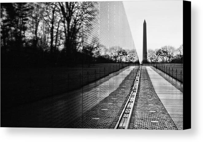 Vietnam Wall Canvas Print featuring the photograph 58286 by JC Findley
