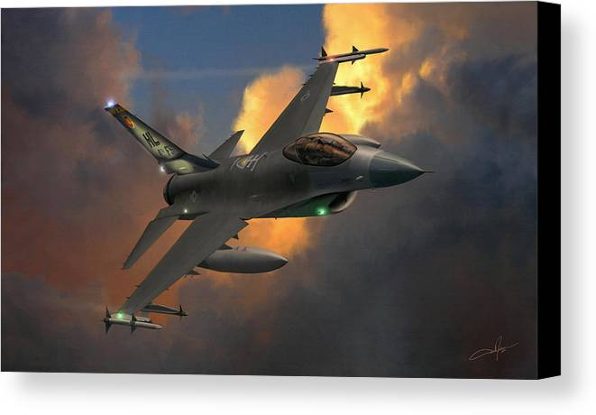 F-16 Canvas Print featuring the digital art Beauty Pass by Dale Jackson