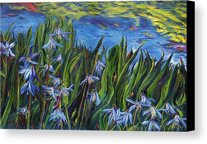 Flowers Canvas Print featuring the painting Cilia Flowers by Gregory Allen Page