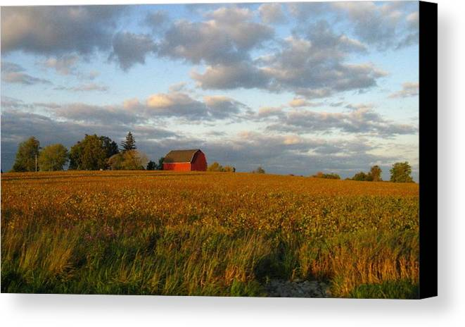 Landscape Canvas Print featuring the photograph Country Backroad by Rhonda Barrett