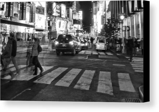 Crosswalk Canvas Print featuring the photograph Crosswalk by Dan Sproul