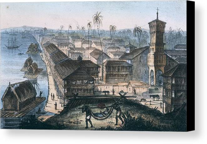 Horizontal Canvas Print featuring the photograph Ecuador. Guayaquil. The City by Everett