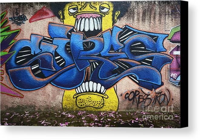 Graffiti Canvas Print Featuring The Photograph Art Curitiba Brazil 7 By Bob Christopher