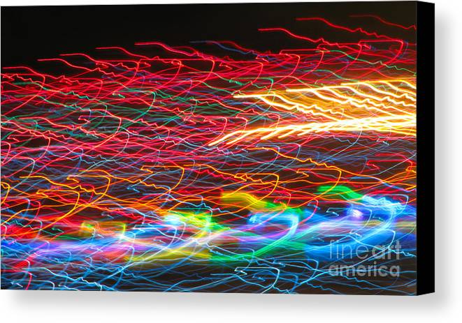 Lights Canvas Print featuring the photograph Lights In The Fast Lane by C Ray Roth