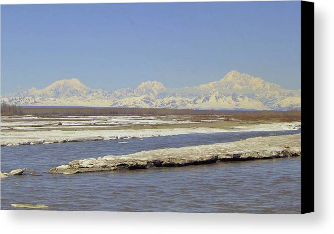 Alaska Canvas Print featuring the photograph Mckinley And Friends by Larry Marano