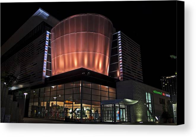 Muhammad Ali Center Canvas Print featuring the photograph Muhammad Ali Center by Chas Andrews