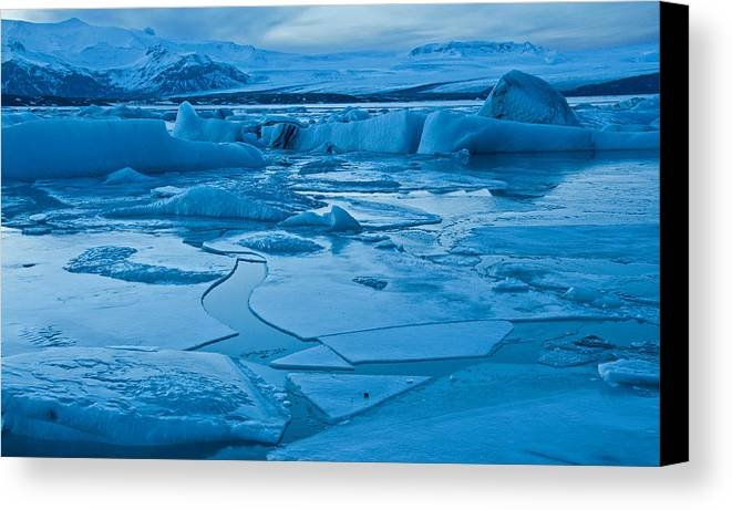 Ice Canvas Print featuring the photograph Objects In The Rearview Mirror by Jim Southwell