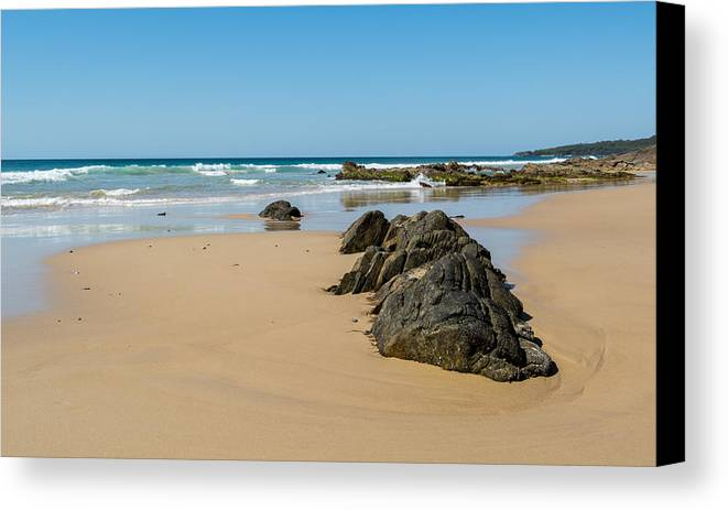 Beach Canvas Print featuring the photograph Quarry Beach 05 by Heather Provan
