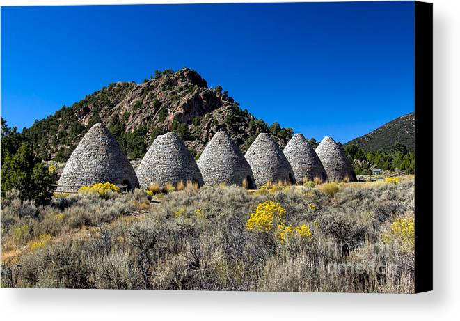 Ward Charcoal Ovens State Historic Park Canvas Print featuring the photograph Wards Charcoal Ovens by Robert Bales
