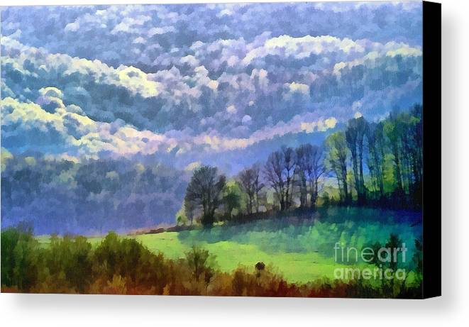 Odon Canvas Print featuring the painting Landscape by Odon Czintos