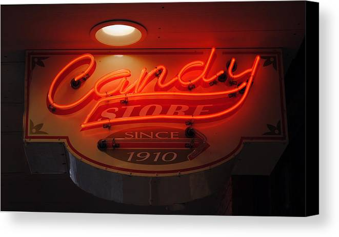 Fair Canvas Print featuring the photograph Candy by Skip Willits