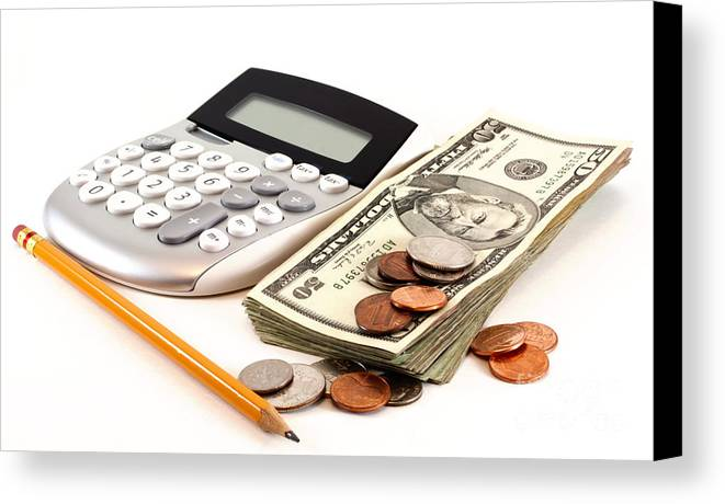 Pen Canvas Print featuring the photograph Personal Finance And Accounting by Blink Images