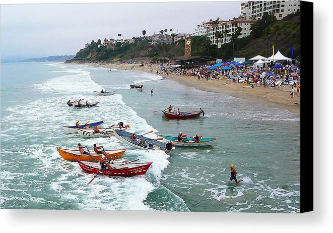 Boat Race Canvas Print featuring the photograph The Boat Race by Ron Regalado