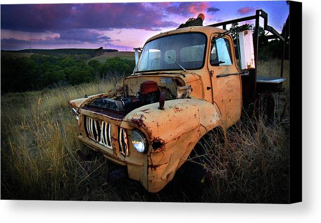 Truck Canvas Print featuring the photograph Abandoned by Tim Nichols