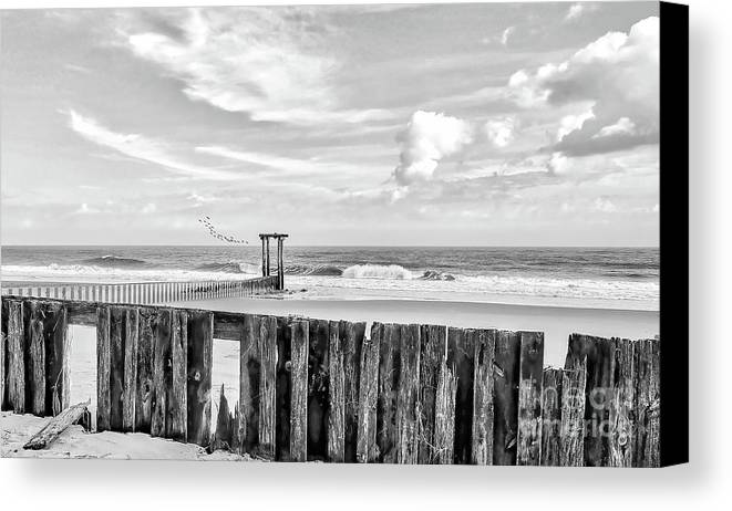 Black And White Canvas Print featuring the photograph After The Storm Black And White by Kathy Baccari