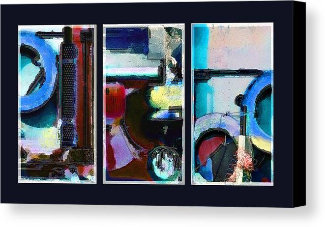 Abstract Canvas Print featuring the digital art Centrifuge by Steve Karol