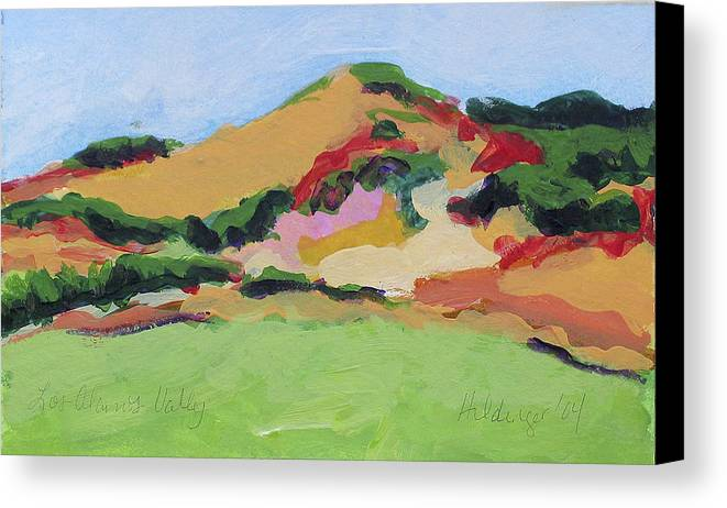 Central Coast Canvas Print featuring the painting Los Alamos Valley by Deborah Hildinger