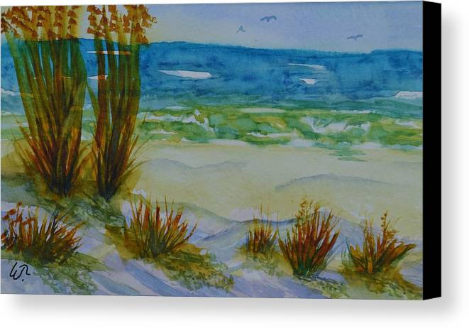 Navarre Beach Canvas Print featuring the painting Navarre Beach by Warren Thompson