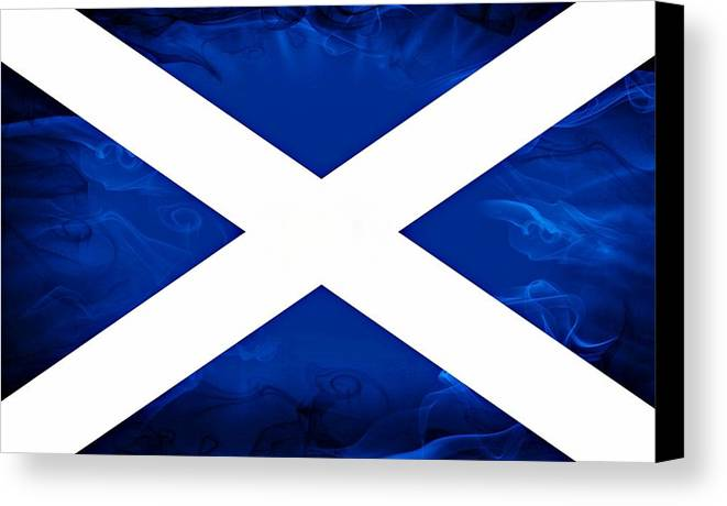 Scotland Canvas Print featuring the photograph Saltire by Eric Said