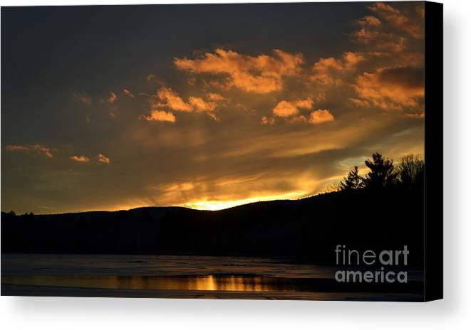 Silhouettes Canvas Print featuring the photograph Silhouettes And Sunsets by Julie Street