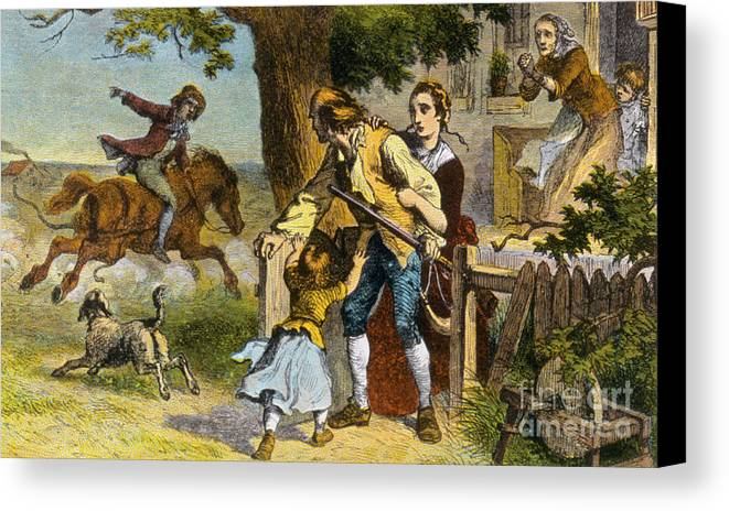 the midnight ride of paul revere 1775 canvas print canvas art by