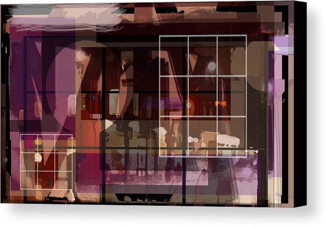 Abstract Vision Images Canvas Print featuring the digital art Through A Window by DC Campbell