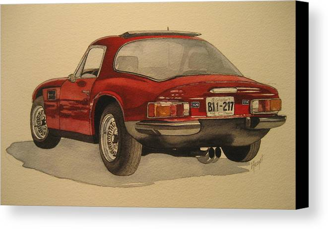 Car Canvas Print featuring the painting Trevors Tvr by Victoria Heryet