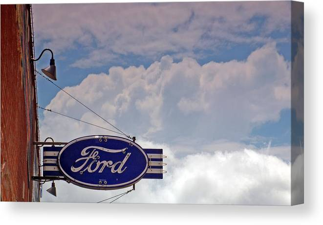 Ford Canvas Print featuring the photograph Our Ford by Willetta Crowe