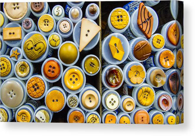 Button Canvas Print featuring the photograph Yellow Palate by Jean Noren