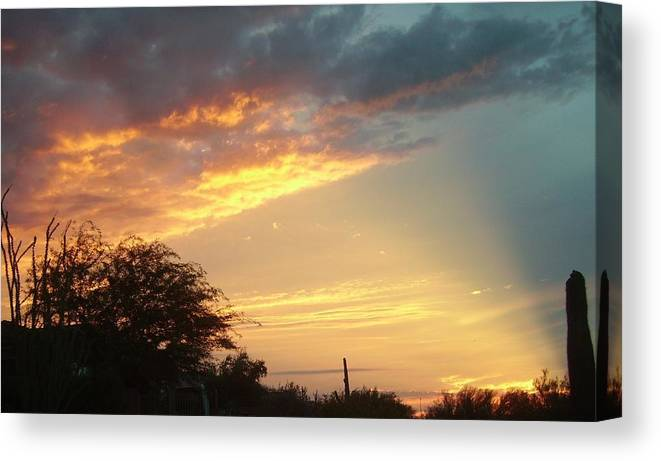 Sunset Canvas Print featuring the photograph Sunset Monsoon Sky by Fran Loando
