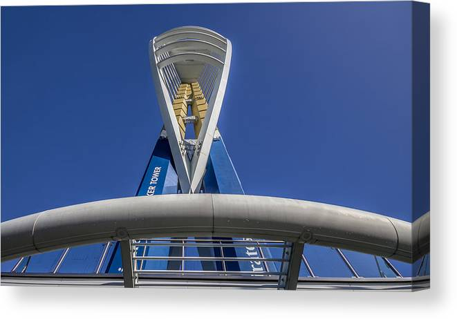 Emirates Spinnaker Tower Canvas Print featuring the photograph Emirates Spinnaker Tower by Angela Aird