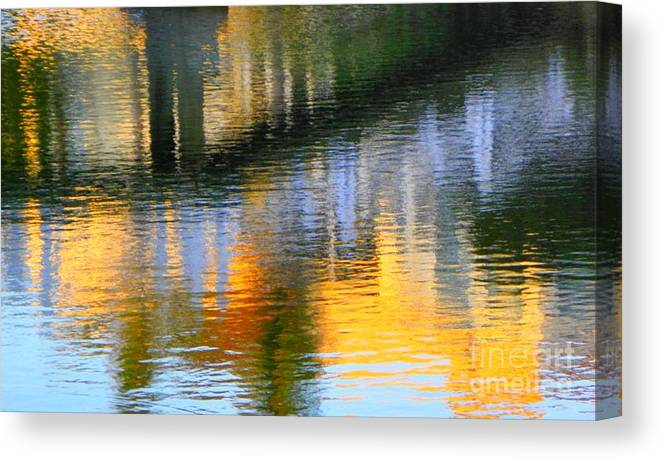 Abstract Canvas Print featuring the photograph Abstract Reflection In Water 05 by Henry Murray